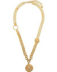Versace Collar con detalle de colgante de Medusa - Metálico