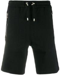 Balmain ドローストリング ショートパンツ - ブラック