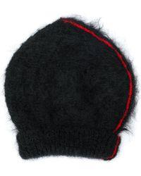 Maison Margiela Stripe Beanie - Black