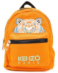 KENZO Sac à dos Tiger à logo - Orange