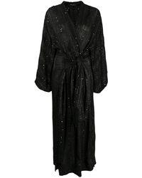 Mes Demoiselles Платье С Пайетками И Запахом - Черный