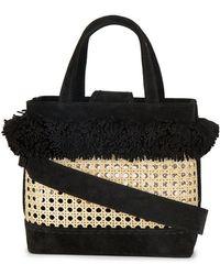 Mehry Mu - Fey Pom Pom Bamboo Basket Bag - Lyst