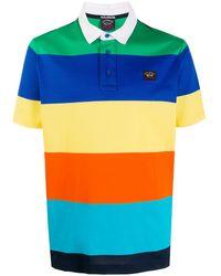 Paul & Shark Striped Polo Shirt - Blue