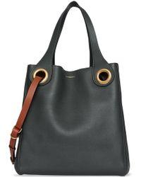 6c6095f636ec Lyst - Burberry Medium Signature Grain Leather Hobo Bag in Green