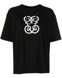 Giambattista Valli グラフィック Tシャツ - ブラック