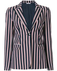 P.A.R.O.S.H. - Striped Fitted Blazer - Lyst