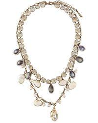 Twin Set Ожерелье С Ракушками - Металлик