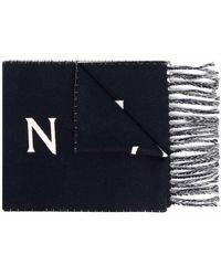 Moncler ロゴ スカーフ - ブルー