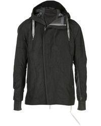 Taichi Murakami Diagonal-cut Hooded Jacket - Black