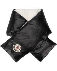 Moncler ロゴ パデッドスカーフ - ブラック