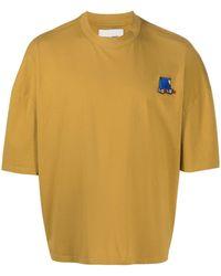 Henrik Vibskov Graphic Print Short-sleeved T-shirt - Yellow