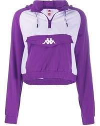 Kappa Banda Banskey Logo Sweatshirt Hoodie - Purple