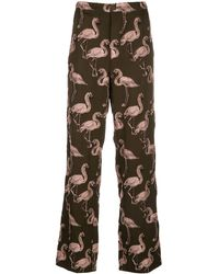 F.R.S For Restless Sleepers Jacquard-Hose - Braun