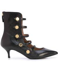 Tabitha Simmons Stud-embellished Kitten Heel Boots - Black