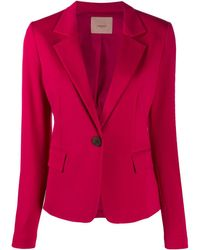 Twin Set Fitted Single-breasted Blazer - Pink