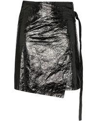 Helmut Lang ラップ スカート - ブラック