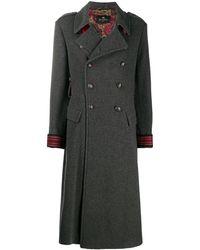 Etro Длинное Двубортное Пальто - Серый