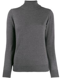 A.P.C. Roll-neck Fitted Jumper - Grey