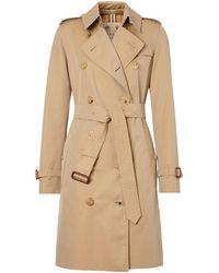 Burberry The Kensington Cotton-gabardine Trench Coat - Natural