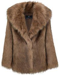 Unreal Fur エコファー ジャケット - ブラウン