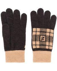 Fendi - Knitted Gloves - Lyst