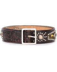 Golden Goose Deluxe Brand Studded embellished belt - Marron