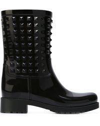 Valentino Garavani ロックスタッズ ブーツ - ブラック