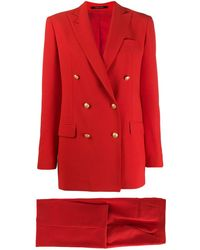 Tagliatore Doppelreihiger Anzug - Rot
