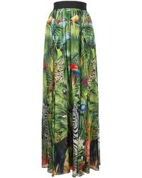 Dolce & Gabbana Maxi-jurk Met Jungleprint - Groen