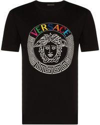 Versace - T-shirt à broderie Medusa - Lyst