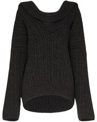 Jacquemus ドレープ セーター - ブラック