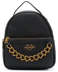 Love Moschino Chain-embellished Backpack - Black