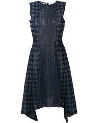 Dior ハウンドトゥース ドレス - ブルー