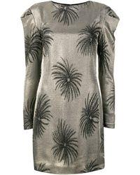 Victoria, Victoria Beckham Palm Tree Jacquard Dress - Metallic