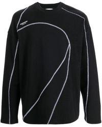 Yoshio Kubo Marble Stitched Long Sleeved T-shirt - Black