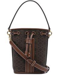 Bally Monogram-print Leather Bucket Bag - Brown