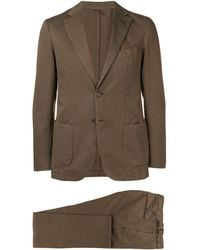 Dell'Oglio Regular Two-piece Suit - Brown