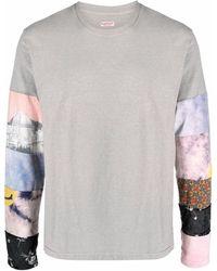 Kapital T-Shirt im Patchwork-Design - Grau