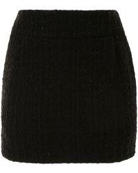 Alexandre Vauthier ツイード ミニスカート - ブラック