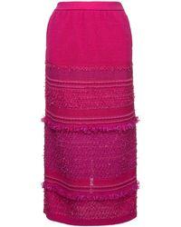 Coohem ツイードスカート - ピンク