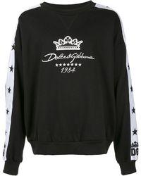 Dolce & Gabbana Sweater Met Geborduurd Logo - Zwart