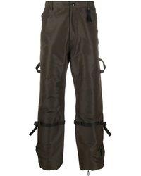 N°21 Grosgrain-detail Cargo Pants - Green