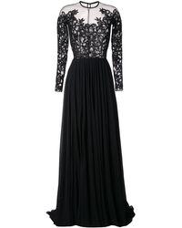 Saiid Kobeisy Pleated Sequinned Gown - Black