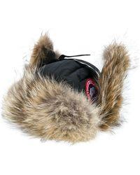 Canada Goose Chapeau à détails de cache-oreilles - Noir