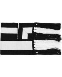 Gcds Logo Stripe Sjaal - Zwart