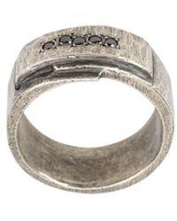 Tobias Wistisen Folded Stones Ring - Metallic
