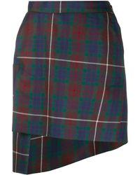 Vivienne Westwood Tartan Mini Skirt - Brown