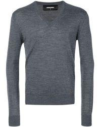 DSquared² Vネックセーター - グレー