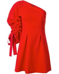 Goen.J One-shoulder Mini Dress - Red