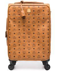 MCM Leather Monogram Logo Print Suitcase - Multicolour